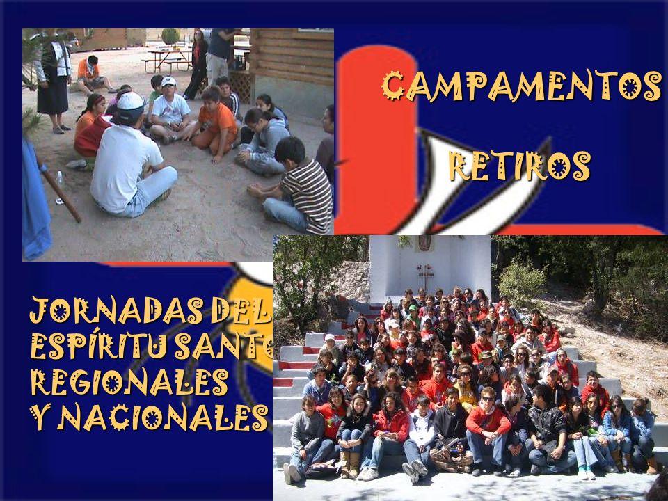 CAMPAMENTOSRETIROS JORNADAS DEL ESPÍRITU SANTO REGIONALES Y NACIONALES