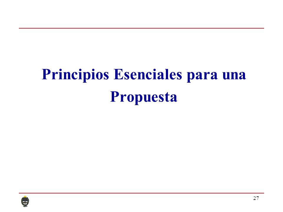 27 Principios Esenciales para una Propuesta