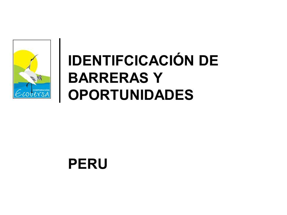 IDENTIFCICACIÓN DE BARRERAS Y OPORTUNIDADES PERU
