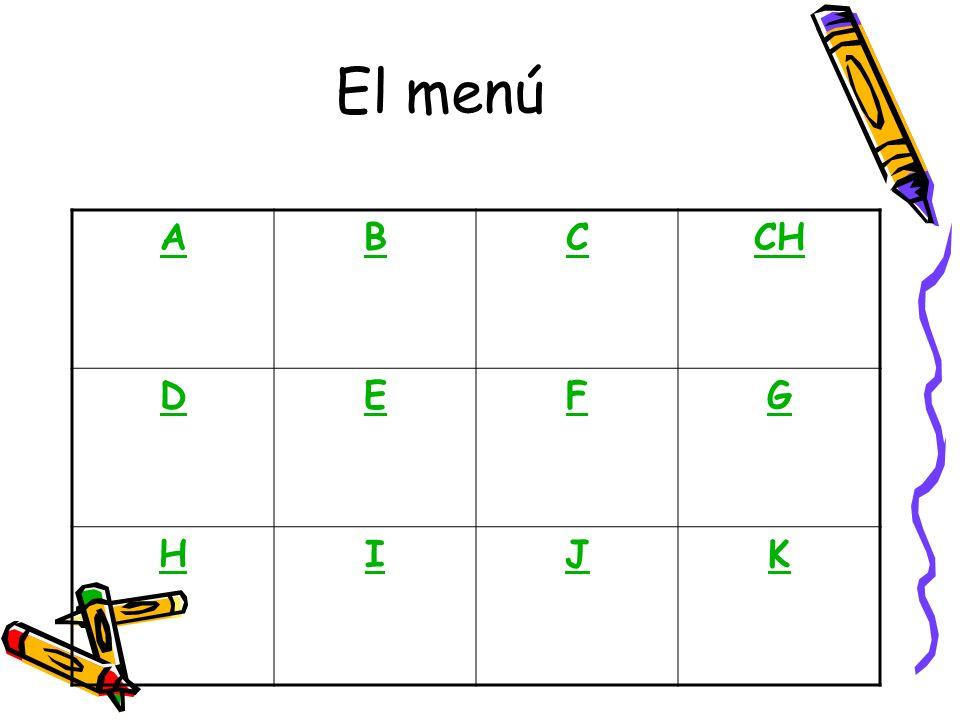ABCCH DEFG HIJK El menú