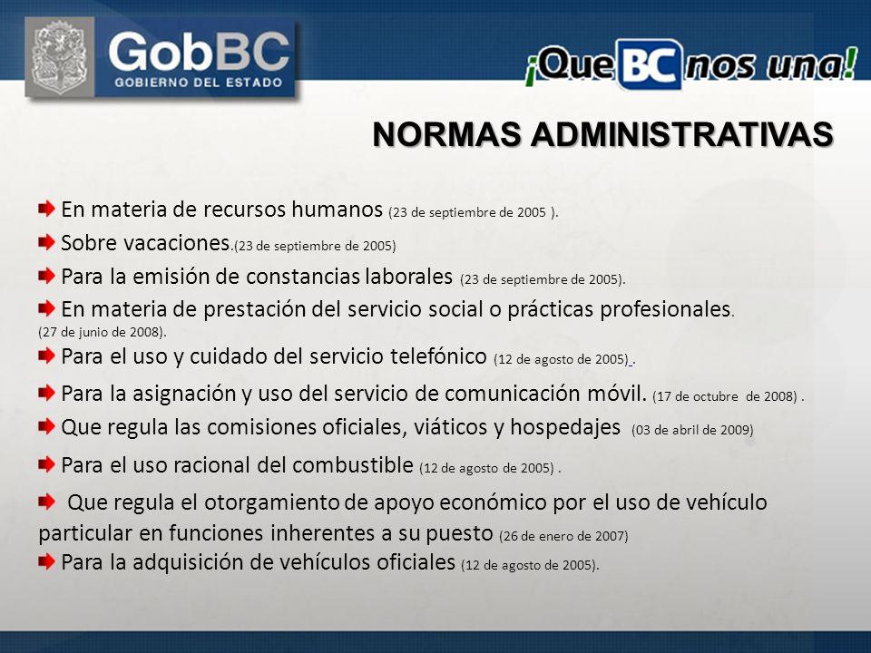 En materia de recursos humanos (23 de septiembre de 2005 ). Sobre vacaciones.(23 de septiembre de 2005) Para la emisión de constancias laborales (23 d