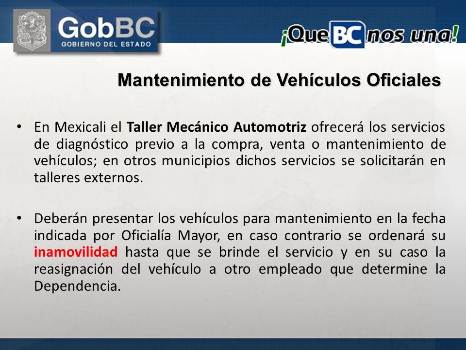 En Mexicali el Taller Mecánico Automotriz ofrecerá los servicios de diagnóstico previo a la compra, venta o mantenimiento de vehículos; en otros munic