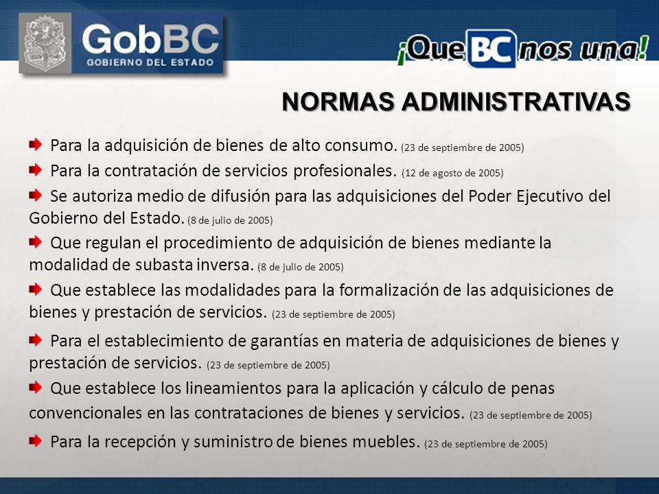 Para la adquisición de bienes de alto consumo. (23 de septiembre de 2005) Para la contratación de servicios profesionales. (12 de agosto de 2005) Se a