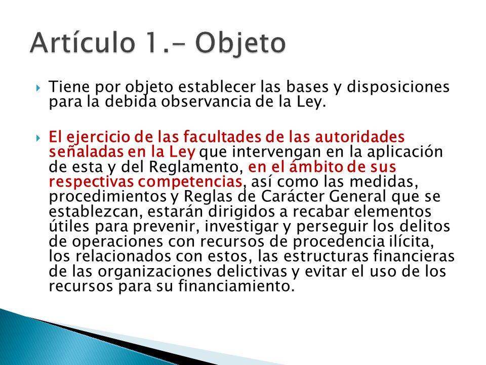 Tiene por objeto establecer las bases y disposiciones para la debida observancia de la Ley. El ejercicio de las facultades de las autoridades señalada