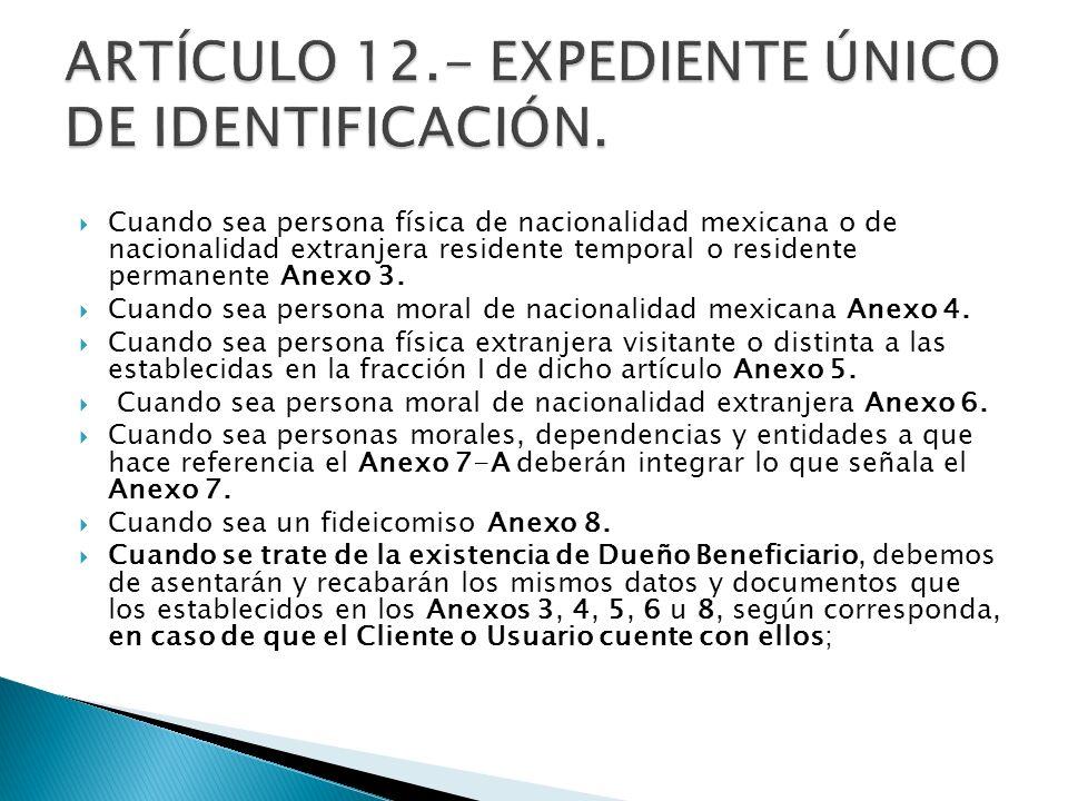 Cuando sea persona física de nacionalidad mexicana o de nacionalidad extranjera residente temporal o residente permanente Anexo 3. Cuando sea persona