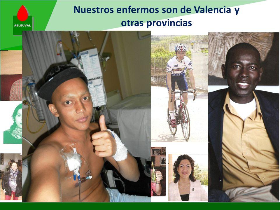 Atendemos a enfermos mayores de 18 años que sufren Leucemia u otras enfermedades de la sangre y sus familias