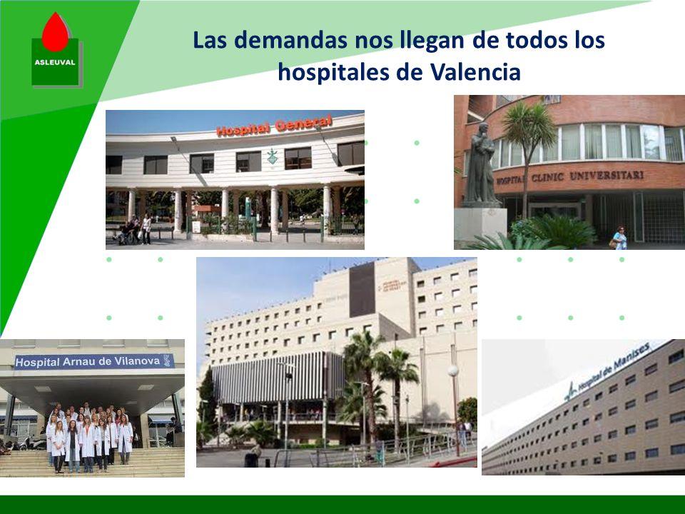 Nuestros enfermos son de Valencia y otras provincias