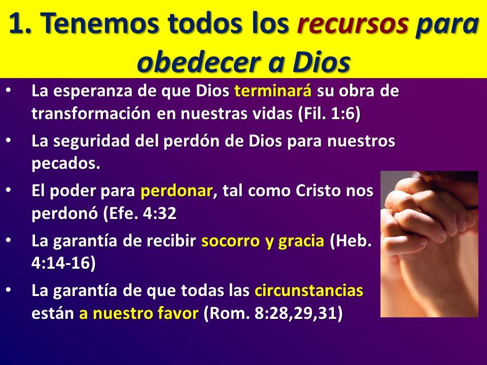 La esperanza de que Dios terminará su obra de transformación en nuestras vidas (Fil. 1:6) La esperanza de que Dios terminará su obra de transformación