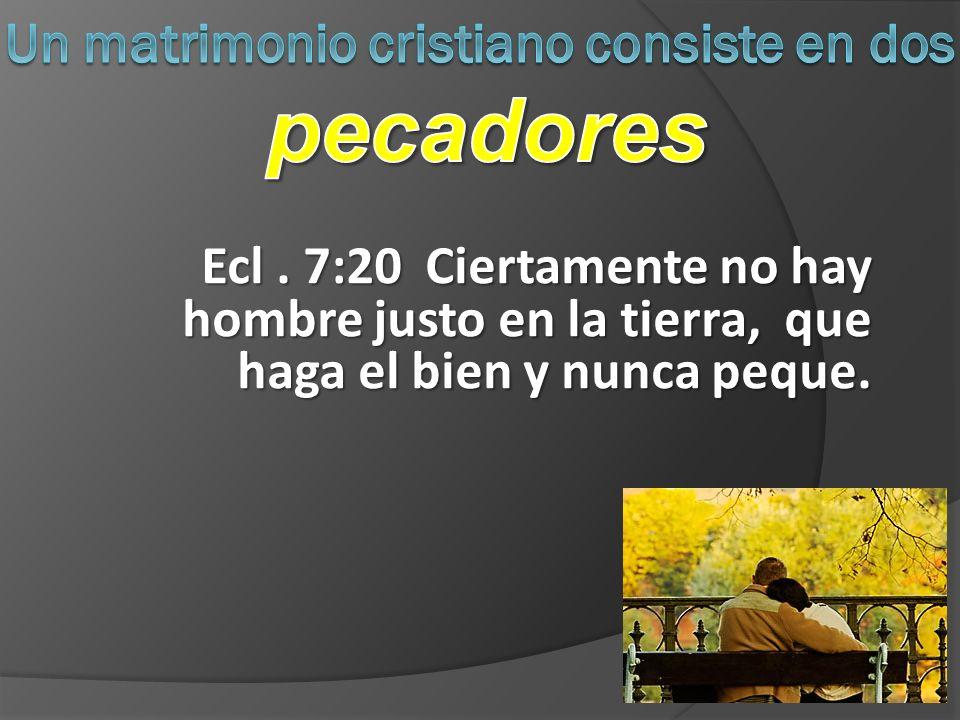 E cl. 7:20 Ciertamente no hay hombre justo en la tierra, que haga el bien y nunca peque.