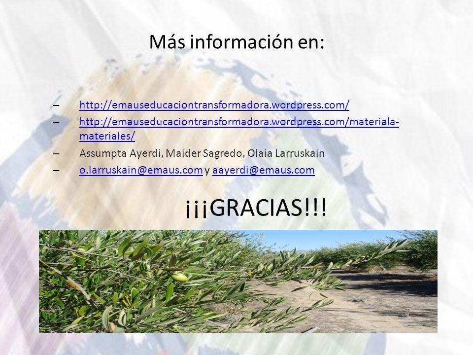 Más información en: – http://emauseducaciontransformadora.wordpress.com/ http://emauseducaciontransformadora.wordpress.com/ – http://emauseducaciontra