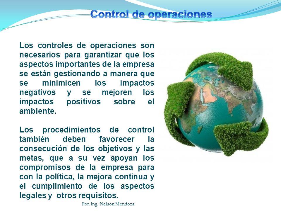 Los controles de operaciones son necesarios para garantizar que los aspectos importantes de la empresa se están gestionando a manera que se minimicen