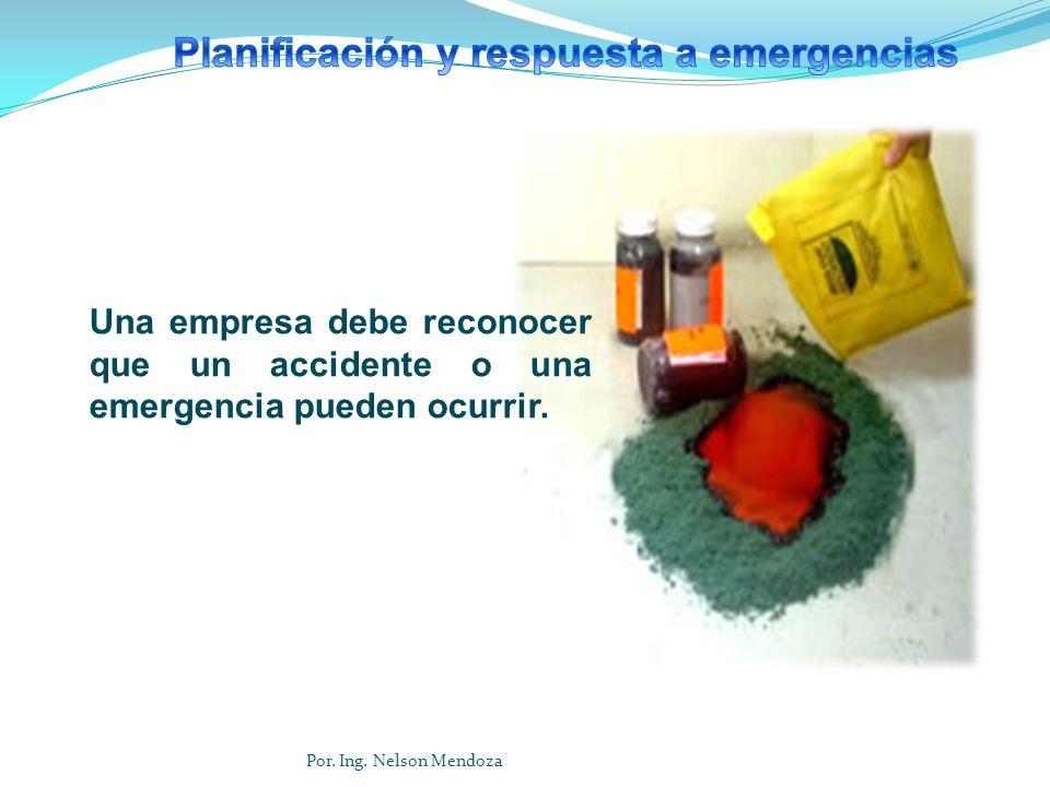Una empresa debe reconocer que un accidente o una emergencia pueden ocurrir. Por. Ing. Nelson Mendoza