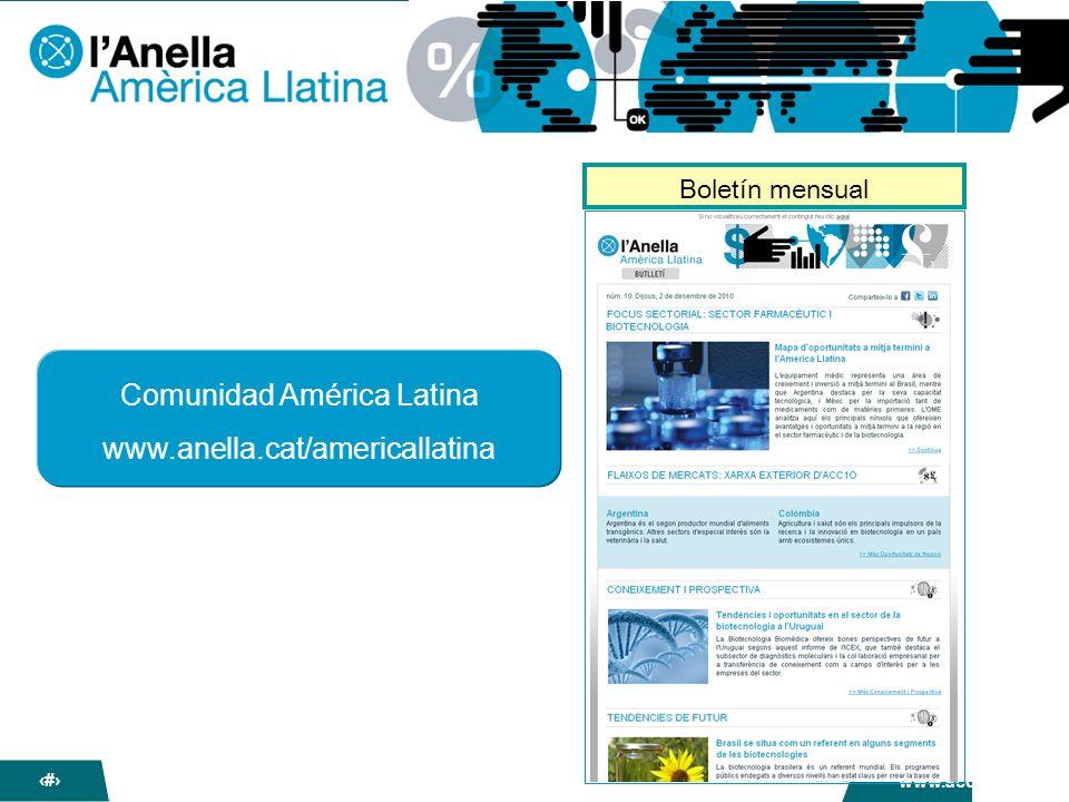 La nova Anella dACC1Ó www.acc10.cat 19 Comunidad América Latina www.anella.cat/americallatina Boletín mensual