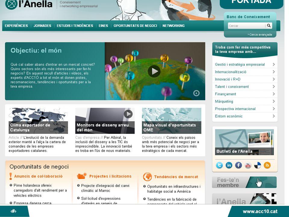 La nova Anella dACC1Ó www.acc10.cat 15 Directorio de miembros Actualmente hay 824 usuarios registrados