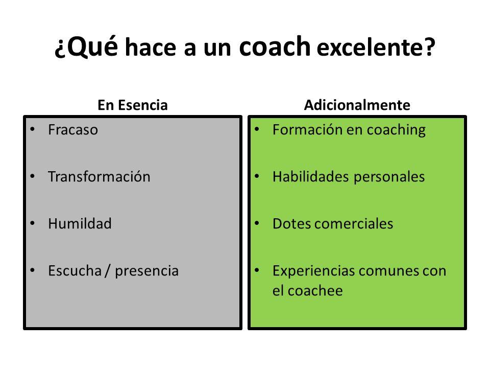 ¿ Qué hace a un coach excelente.