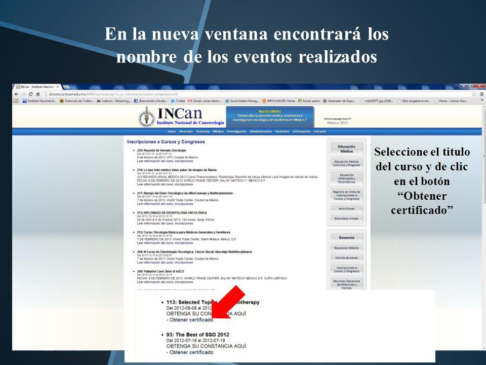 De clic en Obtener Diploma Seleccionado Reconocimiento