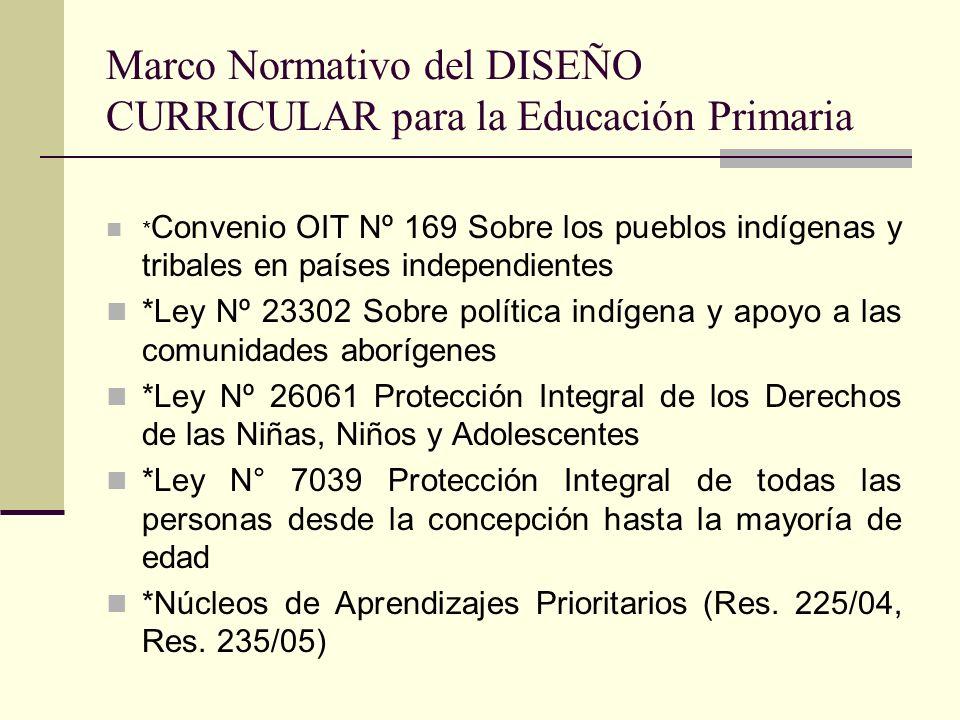 * Convenio OIT Nº 169 Sobre los pueblos indígenas y tribales en países independientes *Ley Nº 23302 Sobre política indígena y apoyo a las comunidades