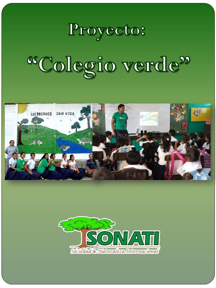 Descripción Colegio verde es un proyecto realizado por SONATI, está dirigido a los alumnos de 4 to año de secundaria.