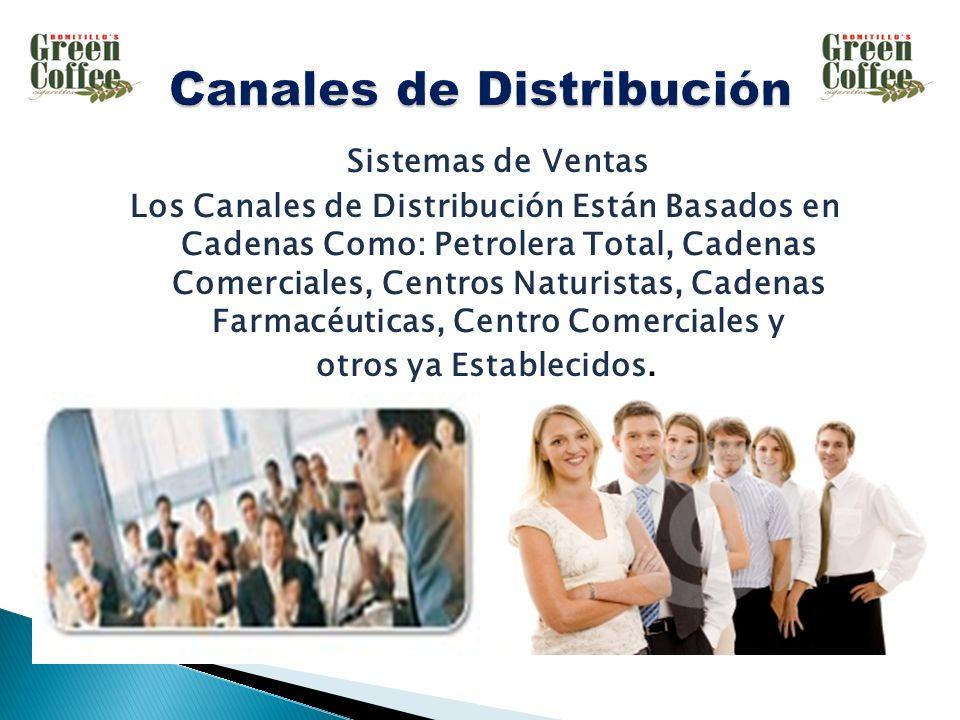 Sistemas de Ventas Los Canales de Distribución Están Basados en Cadenas Como: Petrolera Total, Cadenas Comerciales, Centros Naturistas, Cadenas Farmacéuticas, Centro Comerciales y otros ya Establecidos.