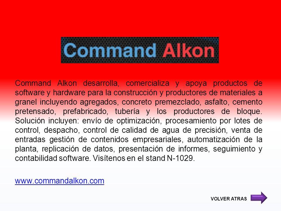 Command Alkon desarrolla, comercializa y apoya productos de software y hardware para la construcción y productores de materiales a granel incluyendo a