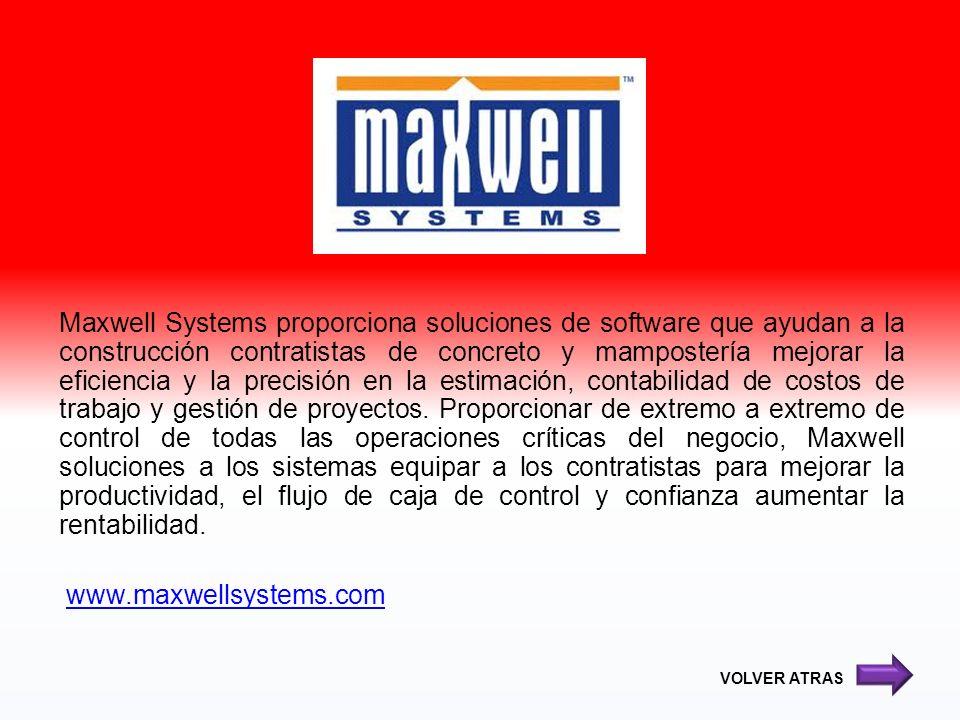 Maxwell Systems proporciona soluciones de software que ayudan a la construcción contratistas de concreto y mampostería mejorar la eficiencia y la prec