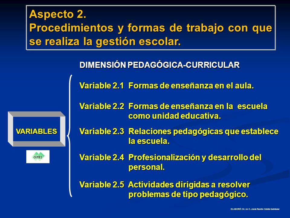 VARIABLES Variable 1.1 Aprendizajes escolares.Variable 1.2 Cobertura y eficiencia.