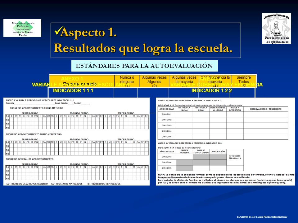 INDICADORES Estos referentes fueron utilizados para construir o seleccionar estandares OPEI ELABORÓ: Dr.