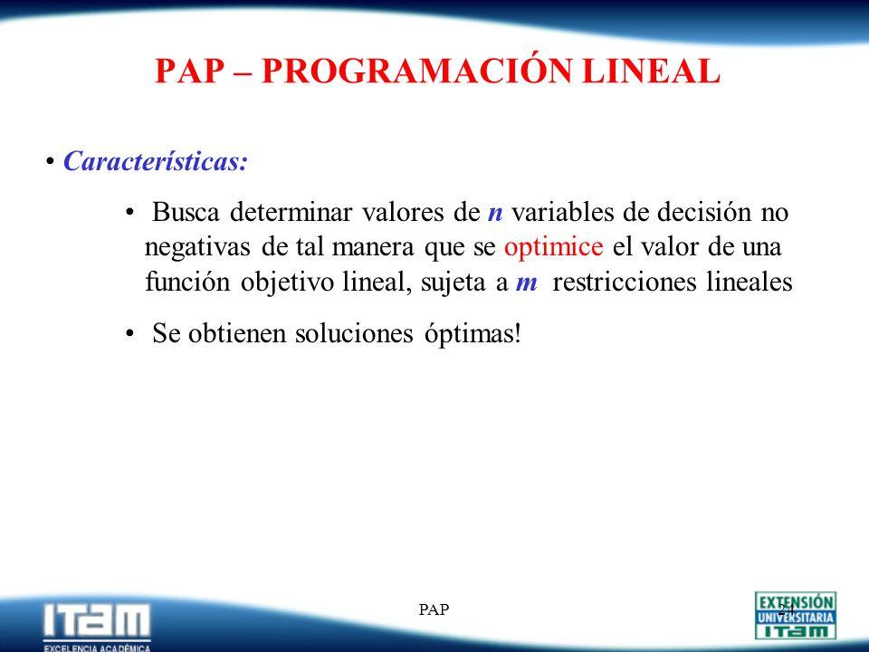 PAP23 PROBLEMA 1 (Cont.) b) MO Cte (s/faltantes) Costos = * C H + * C I = $