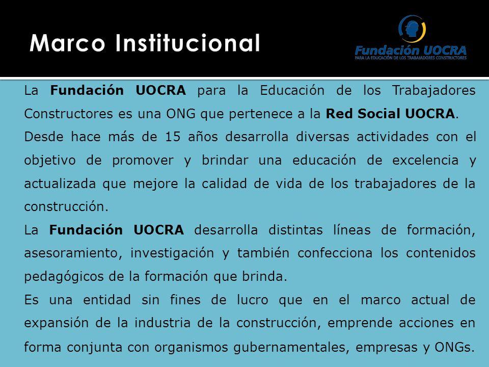 La Fundación UOCRA para la Educación de los Trabajadores Constructores es una ONG que pertenece a la Red Social UOCRA. Desde hace más de 15 años desar