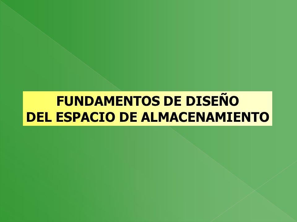 FUNDAMENTOS DE DISEÑO DEL ESPACIO DE ALMACENAMIENTO