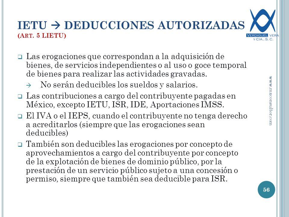 IETU DEDUCCIONES AUTORIZADAS (A RT.