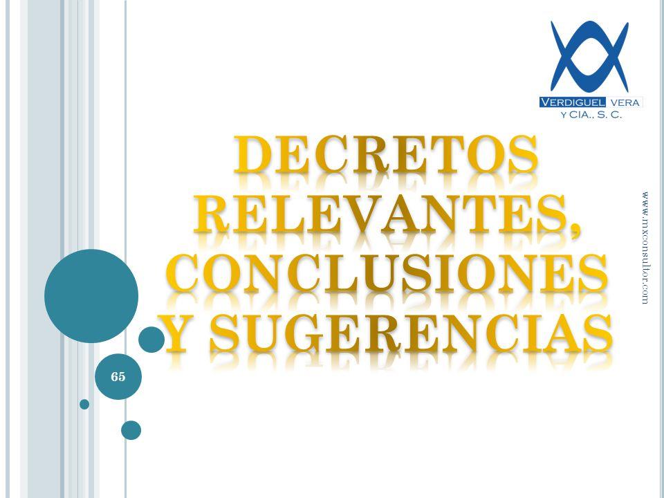 65 www.mxconsultor.com