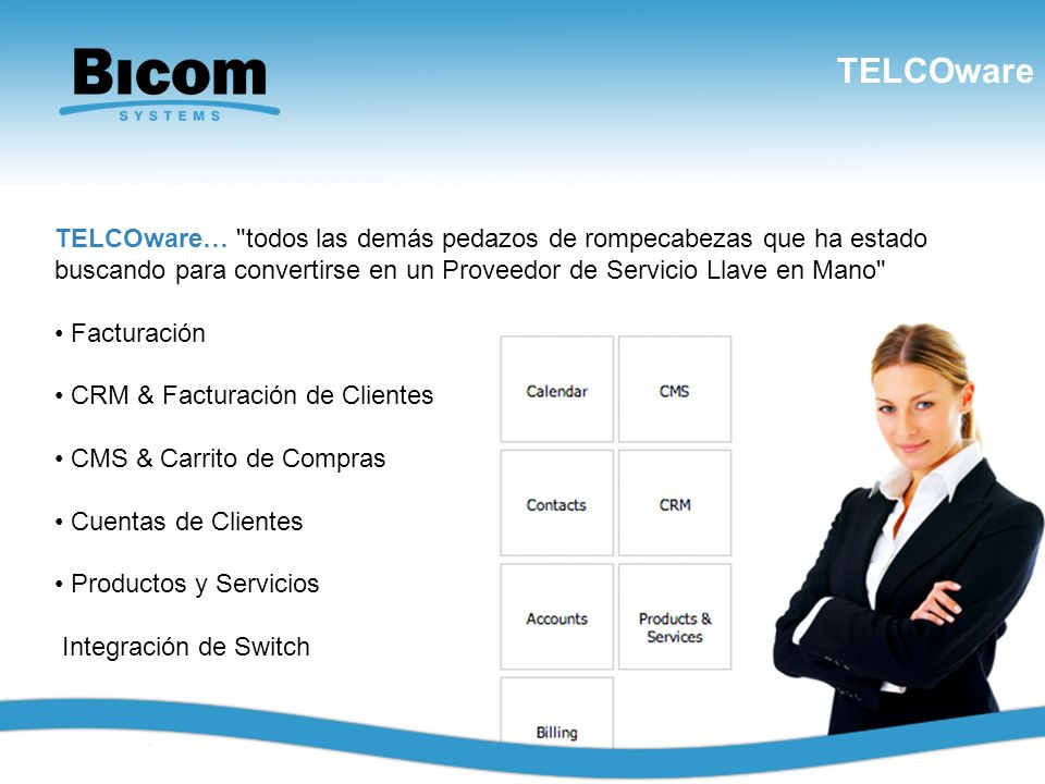 TELCOware www.bicomsystems.com TELCOware…