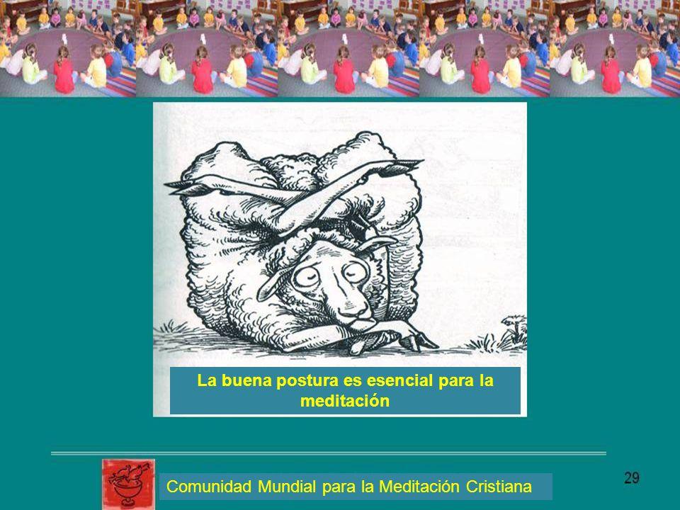 La buena postura es esencial para la meditación Comunidad Mundial para la Meditación Cristiana