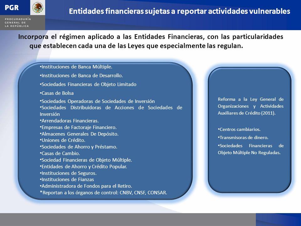 Incorpora el régimen aplicado a las Entidades Financieras, con las particularidades que establecen cada una de las Leyes que especialmente las regulan