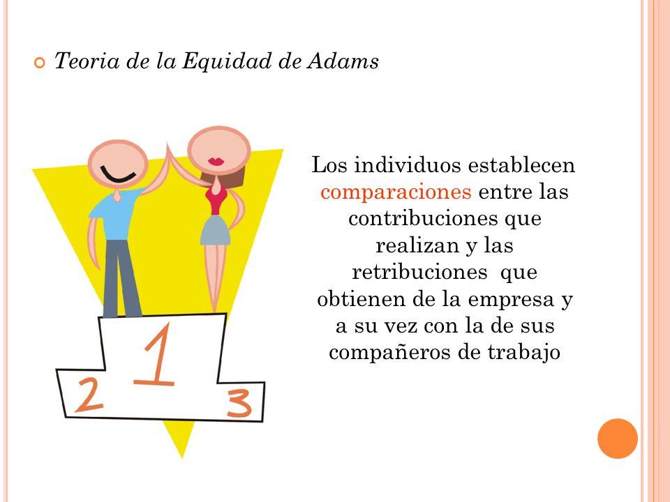 Los individuos establecen comparaciones entre las contribuciones que realizan y las retribuciones que obtienen de la empresa y a su vez con la de sus