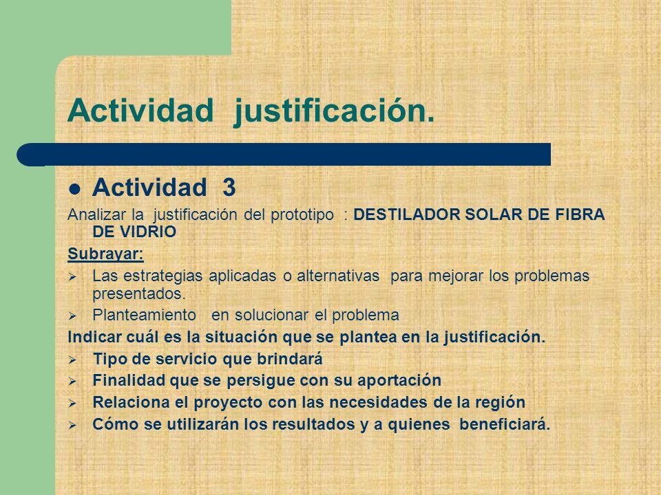 Actividad justificación.