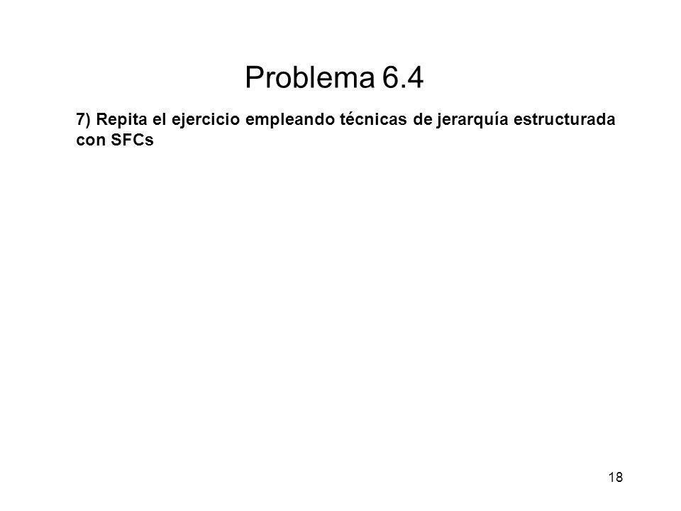 18 Problema 6.4 7) Repita el ejercicio empleando técnicas de jerarquía estructurada con SFCs