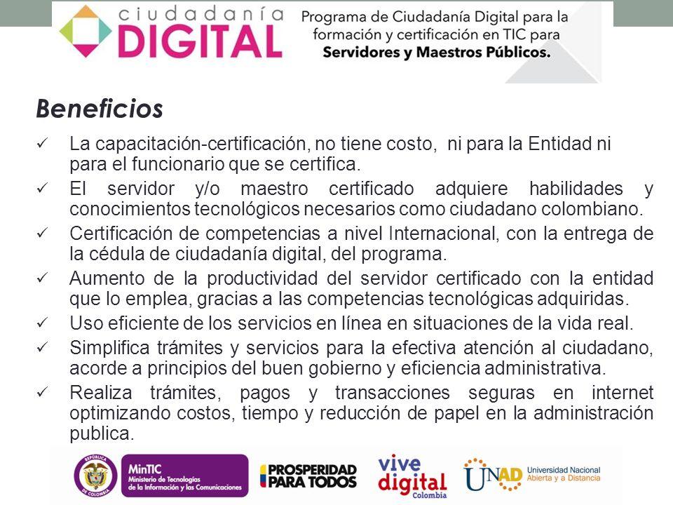 Formar y certificar las competencias de los actuales y futuros servidores públicos y maestros colombianos, para incorporar, adaptar e integrar las tecnologías de la información y la comunicación a su desempeño, e incrementar la competitividad y productividad del Gobierno y la calidad de la educación acorde con las necesidades de la sociedad actual.servidores públicosmaestros colombianos Diego Molano Ministro de Tecnologías de la Información y las Comunicaciones - MINTIC Diego Molano Ministro de Tecnologías de la Información y las Comunicaciones - MINTIC Objetivo general del Programa