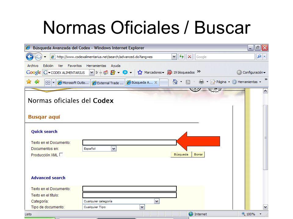 Normas Oficiales / Buscar