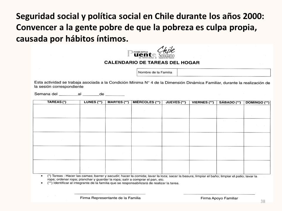 Seguridad social y política social en Chile durante los años 2000: Convencer a la gente pobre de que la pobreza es culpa propia, causada por hábitos í