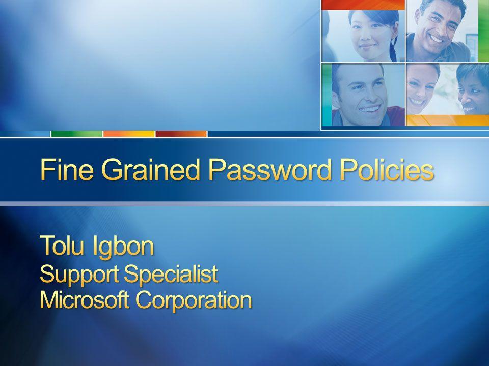 RSOP Se recomienda crear un valor msDS-PasswordSettingsPrecedence único para cada PSO.