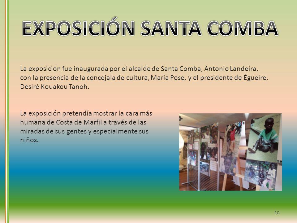 La exposición fue inaugurada por el alcalde de Santa Comba, Antonio Landeira, con la presencia de la concejala de cultura, María Pose, y el presidente