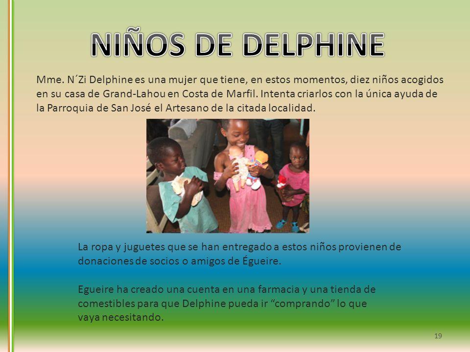 Mme. N´Zi Delphine es una mujer que tiene, en estos momentos, diez niños acogidos en su casa de Grand-Lahou en Costa de Marfil. Intenta criarlos con l