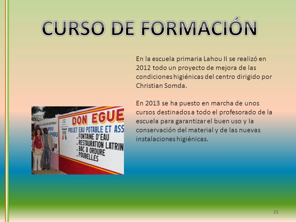 21 En la escuela primaria Lahou II se realizó en 2012 todo un proyecto de mejora de las condiciones higiénicas del centro dirigido por Christian Somda