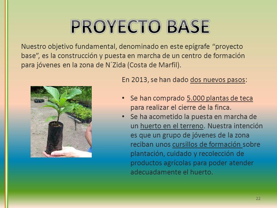 22 Nuestro objetivo fundamental, denominado en este epígrafe proyecto base, es la construcción y puesta en marcha de un centro de formación para jóven