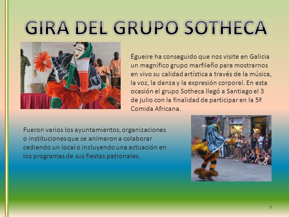 Égueire ha conseguido que nos visite en Galicia un magnífico grupo marfileño para mostrarnos en vivo su calidad artística a través de la música, la vo