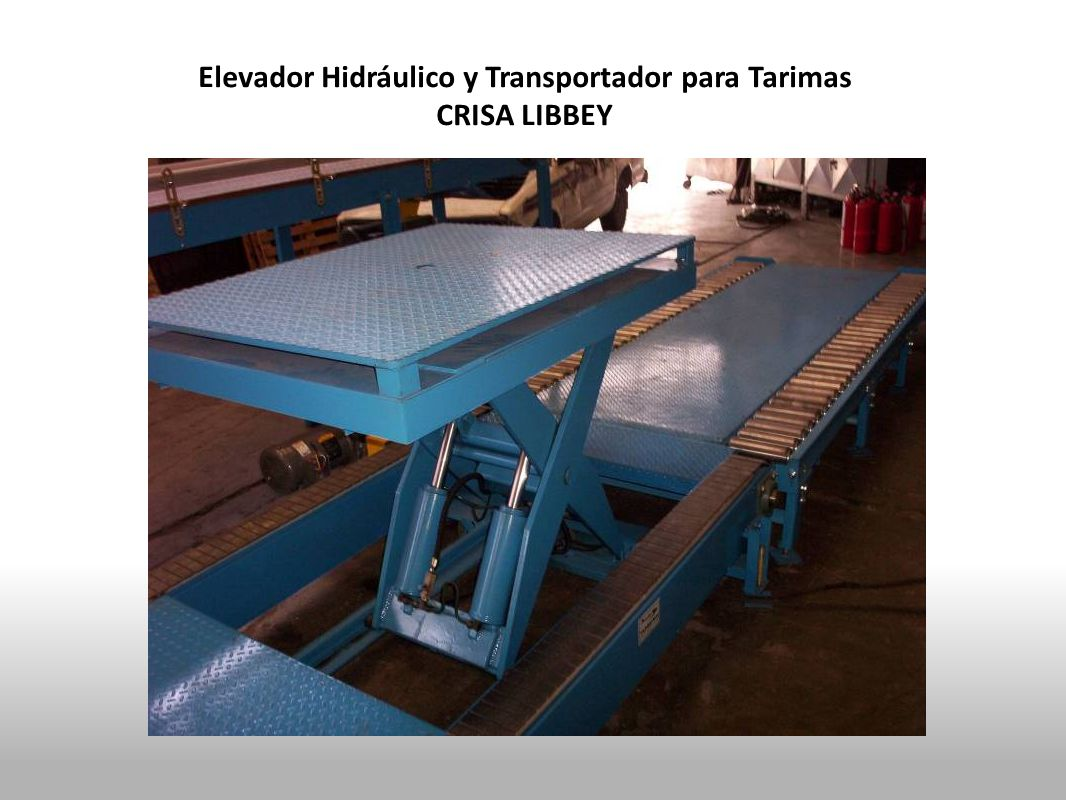 Elevador Hidráulico y Transportador para Tarimas CRISA LIBBEY