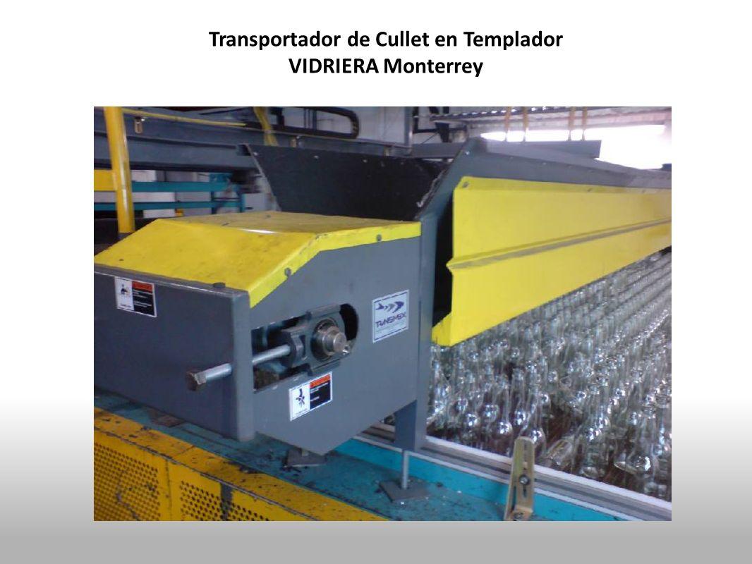 Transportador de Cullet en Templador VIDRIERA Monterrey