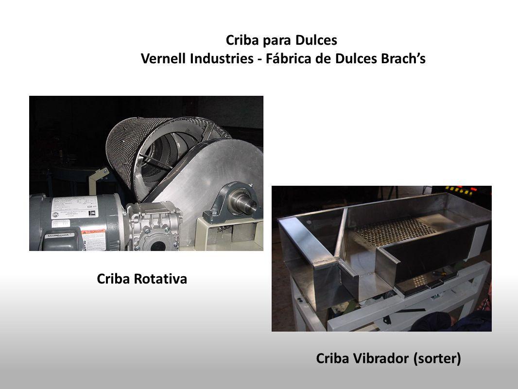 Criba para Dulces Vernell Industries - Fábrica de Dulces Brachs Criba Rotativa Criba Vibrador (sorter)